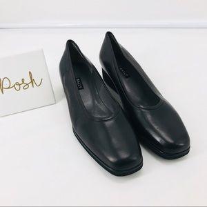 Bally Tignale Black Leather Wedge Heels Sz 10